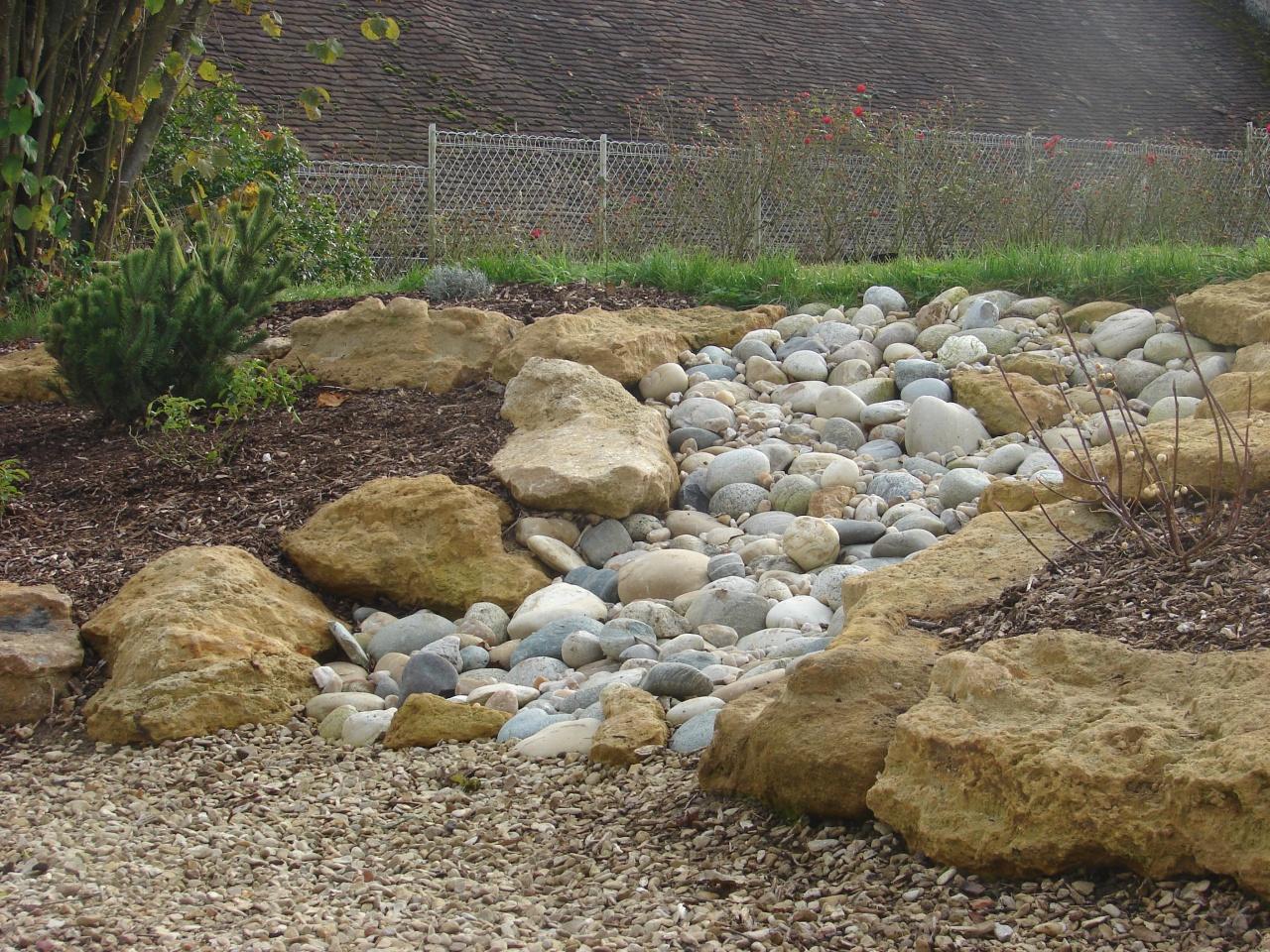 Cr ation d 39 une cascade s che sur un talut transform en for Toile bassin